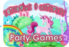 Rainbow and Unicorn party game ideas to make your little girls party absolutely magical.