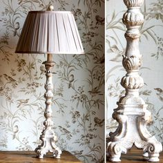 French Candlestick Table Lamp With Shade