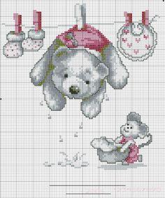 Punto croce - Schemi e Ricami gratuiti: Raccolta di schemi a punto croce per bambini a tema orsetti