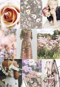 F/W 2018-19 women's pattern & colors trends: belles fleurs