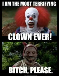 Move over, Pennywise!  LOL!  #ahs #AHSFREAKSHOW #clown