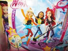 """NIB """"Winx Club"""" Rock Concert Stage With """"Bloom"""" Doll Plays Music & Is Animated"""