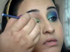 peacock makeup. I'm gonna be a peacock for Halloween.