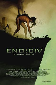 """END:CIV examines our culture's addiction to systematic violence and environmental exploitation, and probes the resulting epidemic of poisoned landscapes and shell-shocked nations.     Based in part on Endgame, the best-selling book by Derrick Jensen, END:CIV asks: """"If your homeland was invaded by aliens who cut down the forests, poisoned the water and air, and contaminated the food supply, would you resist?"""""""
