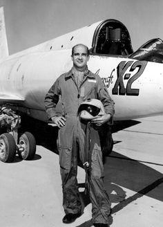 "Capt. Milburn G. ""Mel"" Apt, X-2 Test Pilot, Edwards AFB, 1956"