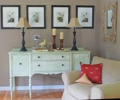 Old painted buffet