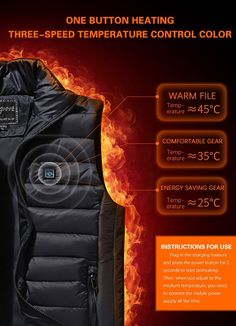 (Last day promotion-50% OFF) Unisex Warming Heated Vest – iGo Store Heated Jacket, Soft Shell, Body Warmer, Stuffed Shells, Save Energy, Vinyl Records, Monitor, Unisex, Promotion