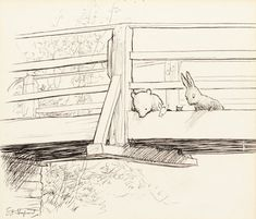 EH Shepard, drawing from The House at Pooh Corner. Courtesy of Sotheby's London.