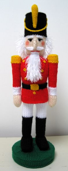 Nutcracker - pattern by Alan Dart for purchase Nutcracker Sweet, Nutcracker Soldier, Nutcracker Christmas, Mickey Christmas, Christmas Knitting Patterns, Knitting Patterns Free, Crochet Patterns, Knitted Dolls, Crochet Toys