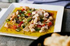 Salpicon - seafood salad - at La Cuina d'Enric in Valencia, Spain