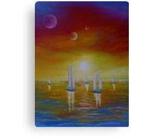 Canvas Print, sailboat, painting, nautical,marine,ocean,scene,colorful,decor,decorative,beautiful,images,contemporary,modern,wall art,awesome,cool,artwork,for sale,home,office,decor,fine art,oil painting, sea,water,whimsical, sunset, fantasy, surreal, sky, planets, seascape,items,ideas, redbubble