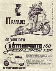 Lambretta Scooter (Top Of The It Parade) Vintage Style Poster Masterprint Mod Scooter, Lambretta Scooter, Scooter Girl, Vespa Scooters, Vintage Ads, Vintage Posters, Vintage Photos, Vintage Style, Motor Scooters