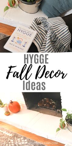 Hygge Fall Decor - Cozy Minimalist Fall Decor Ideas Today I am sharing my minimalist Fall decor ideas. As an aspiring minimalist I want to keep my home clutter free, but make sure it feels cozy too. Little Books, Good Books, Danish Hygge, Scented Pinecones, Hygge Book, Frame Shelf, Troll Party, Rustic Frames, Seasonal Flowers