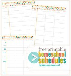 free_printable_homeschool_schedule