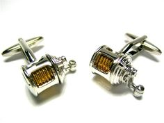New Two Tone Silver Gold Fishing Reel Cufflinks w/ Box | eBay | Gift for my dad for our fishing themed wedding!