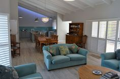 Hermanus Haven (Self-Catering) - Sleeps The house is situated in a beautiful and quiet area. It is very close to the Fernkoof Nature Reserve with beautiful hikes, dams and waterfalls. It is also walking distance from the beaches. Sofa, Couch, Nature Reserve, Waterfalls, Distance, Beaches, Catering, Walking, Furniture