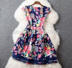 Spring 2015 High quality casual print colorful Sleeveless summer dress fashion women Slim casual Dress lady plus size dresses-in Dresses from Women's Clothing & Accessories on Aliexpress.com | Alibaba Group