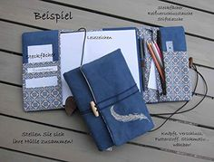 personalized calendar sleeve case grey with embossed name letters also for notebook felt with brown leather cord and carabiner vintage style – Geschenke – Muster Personalised Calendar, Fabric Book Covers, Bible Doodling, Name Embroidery, Diy Bags Purses, Bible Covers, Notebook Covers, Blog Planner, Filofax