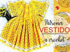 Vestido para Bebe Recién Nacida para Tejer a Crochet | Patrones | Video Filet Crochet, Crochet Granny, Vestidos Bebe Crochet, Elsa, Crochet Patterns, Lily, Summer Dresses, Tops, Google