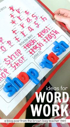 Simple ideas for Daily 5 Word Work. Perfect for my 1st graders!