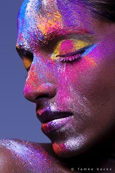 Color explosion Make-up: Corry van der Pluijm  Fotografie: Famke Backx  Model: Nirmala
