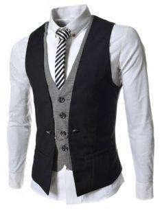 VE34 #TheLees Mens premium layered style slim #vest #waist #coat $33.99
