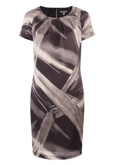 Satin Print Shift Dress