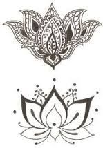 Resultado de imagem para tatuagem mandala lótus feminina
