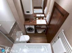 Фотография Tiny Bathrooms, Tiny House Bathroom, Master Bathroom, Bathroom Interior, Interior Design Living Room, Mini Bad, Small Bathroom Layout, Downstairs Toilet, Bathroom Plans