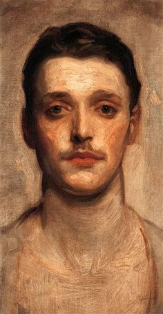 Study of a Young Man by John Singer Sargent. Realism. sketch and study. Private Collection