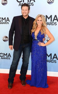 Blake Shelton & Miranda Lambert from 2013 CMA Awards