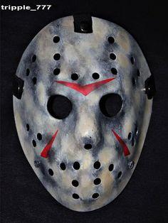 Jason mask, Halloween mask, Halloween costume & Cosplay mask, Halloween decor, Halloween decoration horror mask, Hockey mask movie Prop HO19