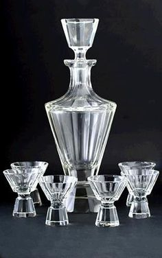 Art deko Bohemia glass crystal