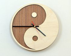 12'' Wooden Wall Clock / Home Decor / Housewares / Clock от KWUDLV