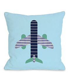 Another great find on #zulily! Blue Airplane Throw Pillow #zulilyfinds