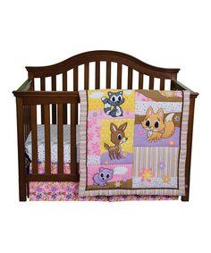 Look what I found on #zulily! Pink Lola Fox & Friends Crib Bedding Set #zulilyfinds