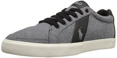 Polo Ralph Lauren Men's Hugh-SK-VL Fashion Sneaker, Grey, 9 D US - Brought to you by Avarsha.com