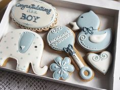 Congratulations Its a Boy Cookie Gift Can be by CookieArtLondon
