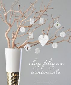 Centsational Girl » Blog Archive Clay Filigree Ornaments + Link Party - Centsational Girl