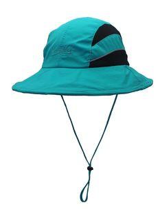 CR Unisex Sun Hat UPF50 Wide Brim Quick Dry Bucket Hat Mesh Fishing Hat -  Blue d4996804ab69