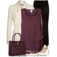 """""""Burgundy & Cream"""" by stay-at-home-mom on Polyvore"""