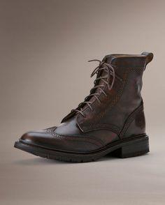 Men's James Lug Wingtip Boot - Copper
