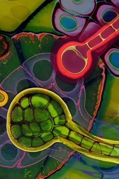 Colourful Nebula by Resin Painter Bruce Riley | Yatzer żywica