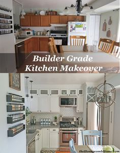 Builder Grade Kitchen Makeover without breaking the bank. Before and After