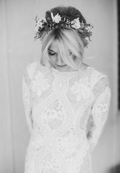 Hello May. ROXY   TROY. Rustic Wedding. Flower crown. Grace Loves Lace.