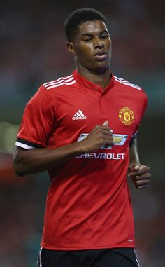 Marcus Rashford of Manchester United during the International Champions Cup match between Manchester United and Sampdoria at Aviva Stadium on August 2, 2017 in Dublin, Ireland.