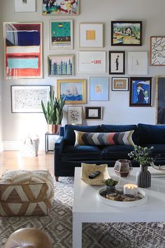 Tall And Colorful Gallery Wall Family Room WallsBright Living