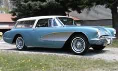 If you needed to get the family around, at least in the 60's they did it IN-STYLE!  A Corvette Wagon!! --  Death before Minivans!! #chevroletcorvette1957