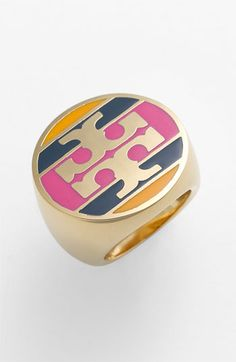 Tory Burch Stripe Logo Ring | Nordstrom