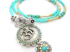 Hippie Jewelry   ... jewelry - yoga necklace - OM sign jewelry - bohemian hippie gypsy
